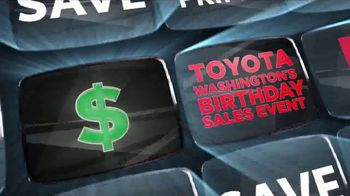 Toyota Washington's Birthday Sales Event TV Spot, 'Go Green' [T2]