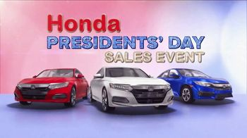 Honda Presidents Day Sale TV Spot, 'Save Today' [T2] - Thumbnail 3