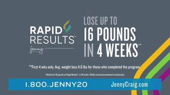 Jenny Craig Rapid Results TV Spot, 'Shiella: 85 Percent Off' - Thumbnail 3
