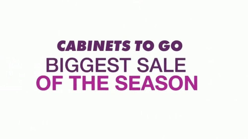 Cabinets To Go Annual Spring Kitchen Sale Tv Commercial