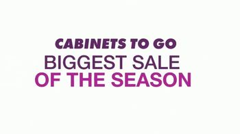 Cabinets To Go Annual Spring Kitchen Sale TV Spot, 'Biggest Sale of the Season' - Thumbnail 1