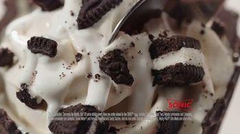 Sonic Drive-In DOUBLE STUF OREO Waffle Cone TV Spot, 'OREO Overload'