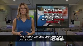 Valsartan Cancer Legal Helpline TV Spot, 'Valsartan 160' - Thumbnail 5