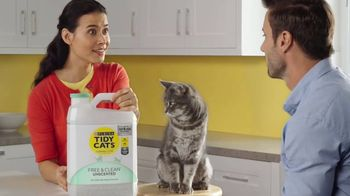 Tidy Cats Free & Clean Unscented TV Spot, 'Have You Smelled This Litter' - Thumbnail 2