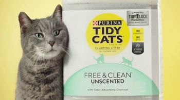 Tidy Cats Free & Clean Unscented TV Spot, 'Have You Smelled This Litter' - Thumbnail 6