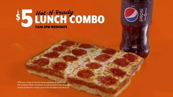 Little Caesars Pizza $5 Hot-N-Ready Lunch Combo TV Spot, 'Ahora $4 dólares' [Spanish] - Thumbnail 1