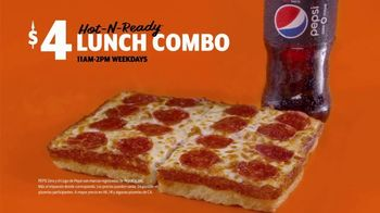 Little Caesars Pizza $5 Hot-N-Ready Lunch Combo TV Spot, 'Ahora $4 dólares' [Spanish] - Thumbnail 5