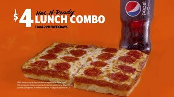 Little Caesars Pizza $5 Hot-N-Ready Lunch Combo TV Spot, 'Ahora $4 dólares' [Spanish] - Thumbnail 2