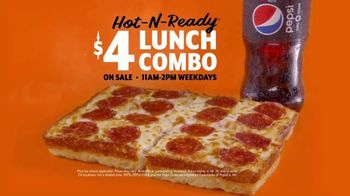 Little Caesars Pizza Hot-N-Ready Lunch Combo TV Spot, 'Hand Rubbing' - Thumbnail 9
