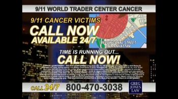 Greg Jones Law TV Spot, '9/11 World Trade Center Cancer' - Thumbnail 8