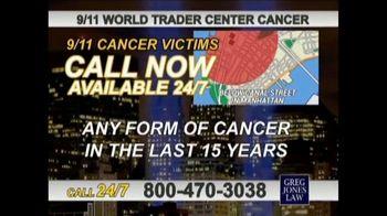 Greg Jones Law TV Spot, '9/11 World Trade Center Cancer' - Thumbnail 4