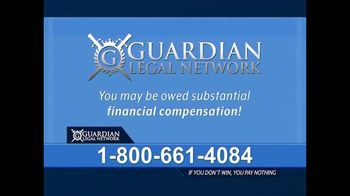 Guardian Legal Network TV Spot, 'Invokana, Jardiance or Farxiga' - Thumbnail 2