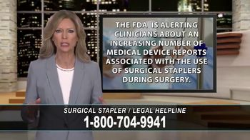 Cowper Law TV Spot, 'Surgical Stapler Legal Helpline'