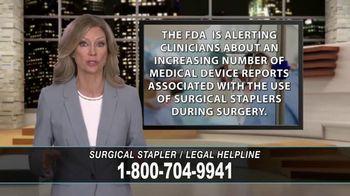 Cowper Law TV Spot, 'Surgical Stapler Legal Helpline' - Thumbnail 4