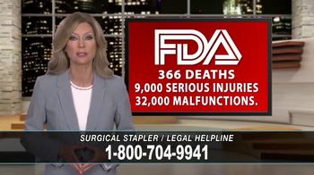 Cowper Law TV Spot, 'Surgical Stapler Legal Helpline' - Thumbnail 8