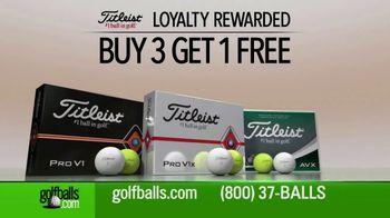 Golfballs.com Buy Three, Get One Free TV Spot, 'Loyalty Rewarded: Titleist Pro V1 & AVX'