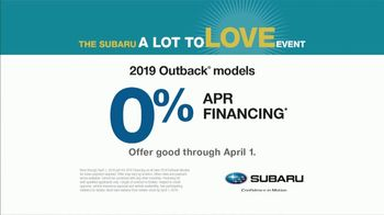 Subaru A Lot to Love Event TV Spot, 'Go See the World' [T2] - Thumbnail 9