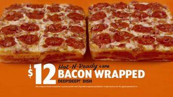 Little Caesars Bacon Wrapped DEEP!DEEP! Dish Pizza TV Spot, 'Envuelto en tocino' [Spanish] - Thumbnail 7