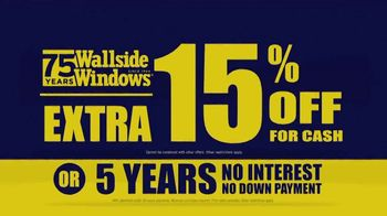 Wallside Windows Off-Season Sale TV Spot, 'Windows and Patio Doors' - Thumbnail 7
