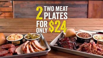 Dickey's BBQ 2-Meat Plates TV Spot, 'Double Up: $24'