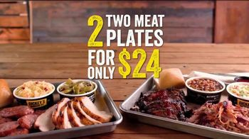 Dickey's BBQ 2-Meat Plates TV Spot, 'Double Up: $24' - Thumbnail 8
