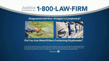 1-800-LAW-FIRM TV Spot, 'Roundup'