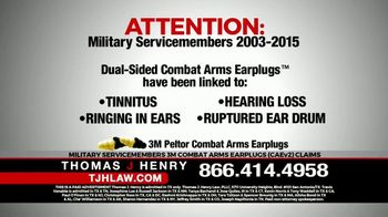 Thomas J. Henry Injury Attorneys TV Spot, 'Attention: Military Service Members' - Thumbnail 1
