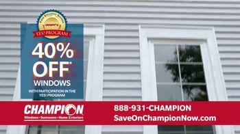 Champion Windows Home Makeover Sale TV Spot, 'Save Big and Transform'