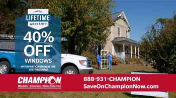 Champion Windows Home Makeover Sale TV Spot, 'Save Big and Transform' - Thumbnail 4