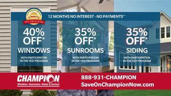 Champion Windows Home Makeover Sale TV Spot, 'Save Big and Transform' - Thumbnail 8