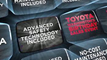 Toyota Washington's Birthday Sales Event TV Spot, 'No Additional Cost Benefits' [T2] - Thumbnail 2
