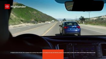 2019 Toyota Highlander TV Spot, 'Turn Up Your Comfort' [T2] - Thumbnail 3