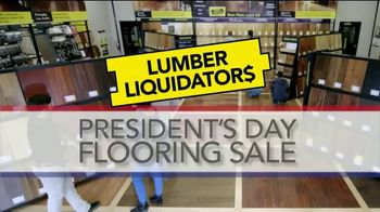 Lumber Liquidators Presidents Day Flooring Sale TV Spot, 'Tax Refund'
