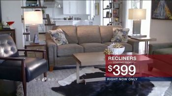 La-Z-Boy Presidents Day Sale TV Spot, 'Special Piece: Recliners: No Financing' - Thumbnail 7