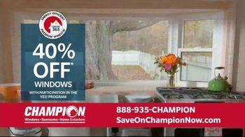 Champion Windows Home Makeover Sale TV Spot, 'Comfort 365'