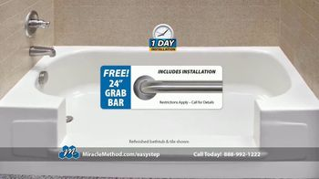Miracle Method Easy Step TV Spot, 'Help Prevent Bathtub Slip and Fall Accidents' - Thumbnail 8