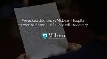 McLean Hospital TV Spot, 'McLean Doctors Read Stories of Mental Health Recovery' - Thumbnail 1