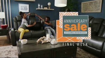 Ashley HomeStore Anniversary Sale TV Spot, 'Final Week: Next Day Delivery' Song by Midnight Riot - Thumbnail 2