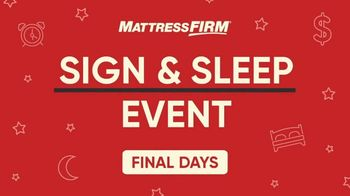 Mattress Firm Sign & Sleep Event TV Spot, 'How Does That Sound?' - Thumbnail 2