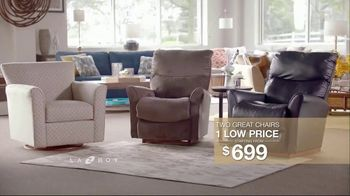 La-Z-Boy Two Great Chairs Event TV Spot, 'Chairs to Fit Every Need' - Thumbnail 7