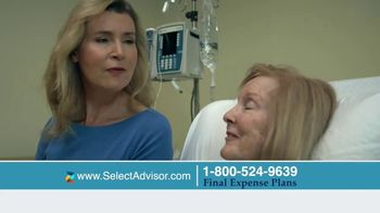 Select Advisor Final Expense Insurance Plan TV Spot, 'Hospital Visit'
