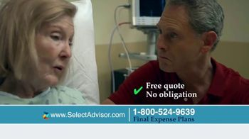 Select Advisor Final Expense Insurance Plan TV Spot, 'Hospital Visit' - Thumbnail 5