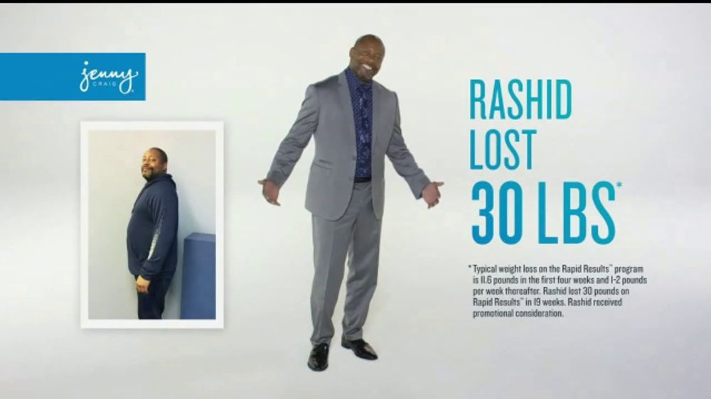 Jenny Craig Rapid Results Tv Commercial Mike 120 In Free Food