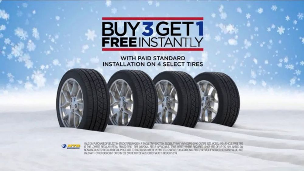 National Tire And Wheel >> National Tire Battery Tv Commercial Season To Save Buy Three Get One Free Video