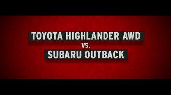 Toyota Highlander TV Spot, 'Comparison' [T2] - Thumbnail 1