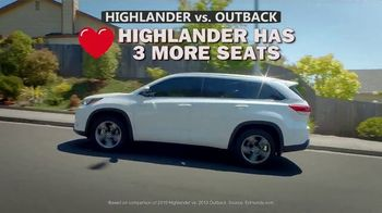 Toyota Highlander TV Spot, 'Comparison' [T2] - Thumbnail 2