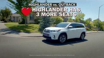 Toyota Highlander TV Spot, 'Comparison' [T2] - Thumbnail 3