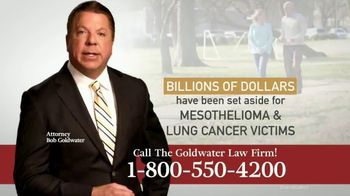 Goldwater Law Firm TV Spot, 'Mesothelioma and Lung Cancer' - Thumbnail 8