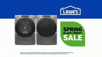 Lowe's Spring Black Friday Sale TV Spot, 'Do Laundry Right' - Thumbnail 8