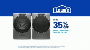 Lowe's Spring Black Friday Sale TV Spot, 'Do Laundry Right' - Thumbnail 9